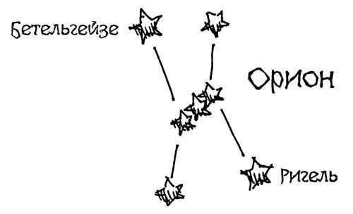 Тельца. В созвездии Ориона