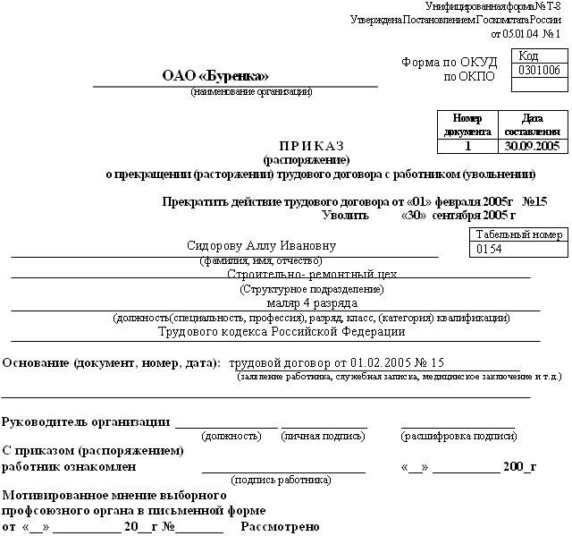Приказ по основному виду деятельности образец