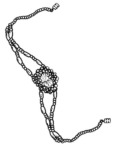Браслет из бисера с пайеткой